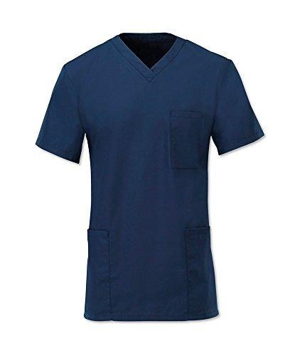 Alexandra D397 Unisexe Hôpital Pyjama De Bloc Tunique Médical Médecins Vêtement Travail – Bleu marine, L