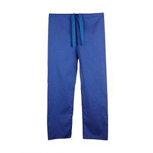 Pantalon medical unisexe reversible (XL, Bleu roi)