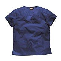 Tunique médicale à col en V Dickies unisexe (XS) (Bleu marine)