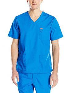 Blouse médicale, Orange Standard, Unisexe «Balboa» (G3107-) (S, Bleu roi)