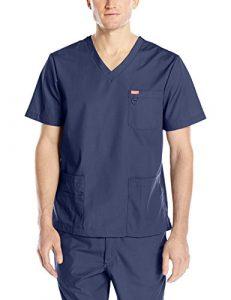 Blouse médicale, Orange Standard, Unisexe «Balboa» (G3107-) (XXS, Bleu marine)