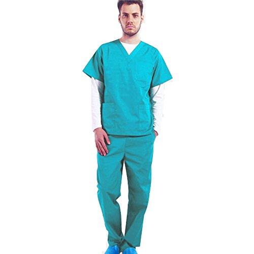 Free Fisher Blouse Vêtement de Travail Homme Blouse + Pantalon Ensemble infemier uniforme salon pour Médecin/Docteur…
