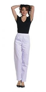 Pantalon de travail blanc Medical / Paramedical (infirmiere hopital…) (Taille 6 – 58/60)