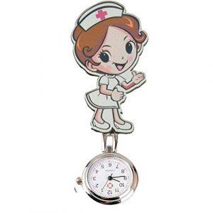 Sencee Mode Lovely mignon Poche à quartz montre infirmière médecin Ambulancier Tunique Broche FOB montre médicale