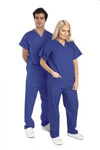 Ensemble Blouse+Pantalon médicale Unisexe réversible – 6 Couleurs Disponibles