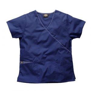 Blouse médicale Dickies en cache coeur, HC11601 (L, NV-MARINE)