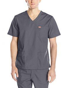 Blouse médicale, Orange Standard, Unisexe «Balboa» (G3107-) (L, Gris charbon)
