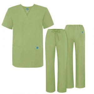 Adar Ensemble Uniformes pour Homme Blouse – Uniforme Médical avec Haut et Pantalon – 701_M Couleur: Sag   Taille: M