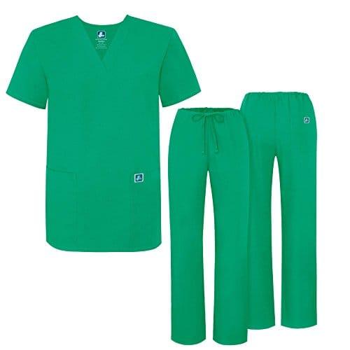 Adar Ensemble Uniformes Unisexe Blouse – Uniforme Médical avec Haut et Pantalon – 701 Couleur: SMT | Taille: XXS