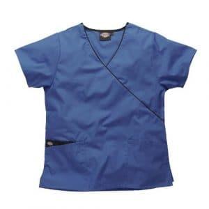 Blouse médicale Dickies en cache coeur, HC11601 (XS, Bleu roi)