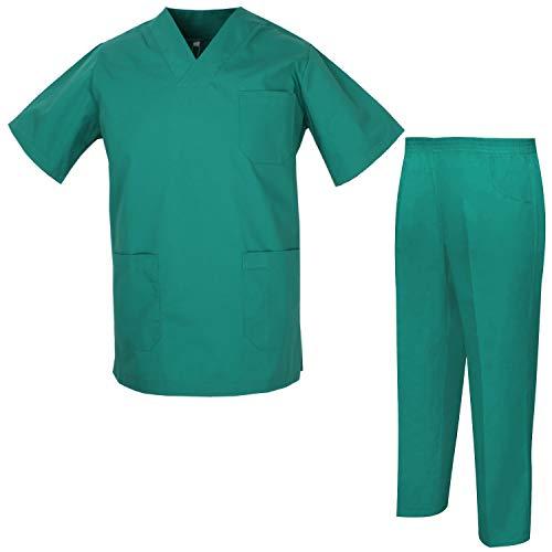 Misemiya – Ensemble Uniformes Unisexe Blouse – Uniforme Médical avec Haut et Pantalon – Ref.8178 – Medium, Vert
