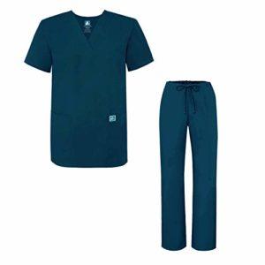Adar Ensemble Uniformes Unisexe Blouse – Uniforme Médical avec Haut et Pantalon – 701 Couleur: CBB | Taille: XS