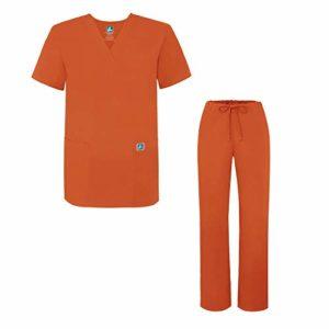 Adar Ensemble Uniformes Unisexe Blouse – Uniforme Médical avec Haut et Pantalon – 701 Couleur: MND | Taille: XL