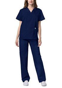 Adar Ensemble Uniformes Unisexe Blouse – Uniforme Médical avec Haut et Pantalon – 701 Couleur: NVY | Taille: XS