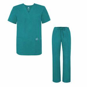Adar Ensemble Uniformes Unisexe Blouse – Uniforme Médical avec Haut et Pantalon – 701 Couleur: TBL | Taille: XS