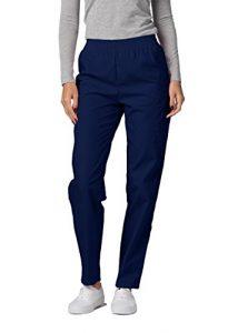 Adar Pantalon Médical Blouses – Pantalons Uniformes d'Hôpital pour Femmes – 503 Couleur: NVY | Taille: XL