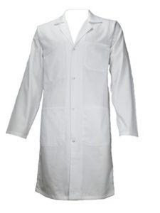 AMAWORK PH Blouse Blanche 100% Coton Chimie Laboratoire Medical Lyceen Etudiant T5