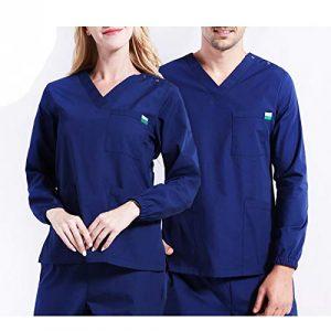 CX ECO Uniformes médicaux Unisexes pour Professionnels du vêtement de Travail, Pantalons et Hauts à Manches Longues,S