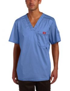 Dickies – Chemise de Brosse médicale – Generation Flex Utility Scrubs T-Shirt col V – Manches Courtes Homme – Bleu – XXXXXL