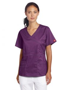 Dickies Unisexe de Les Femmes Gen Flex Mock Wrap T-Shirt Aubergine S