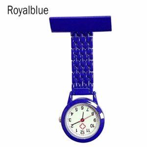 Gu3Je Mode Infirmière Quartz Poche Broche Broche Clip infirmière de Poche infirmière Montre Montre Broche (Color : Dark Blue)