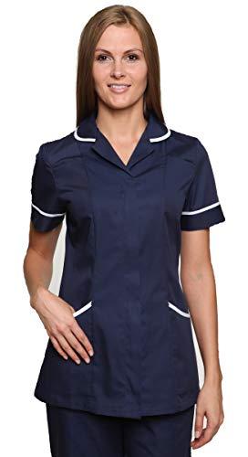 Mirabella Health & Beauty Blouse médicale Nightingale pour Femme Marine-Blanc 38