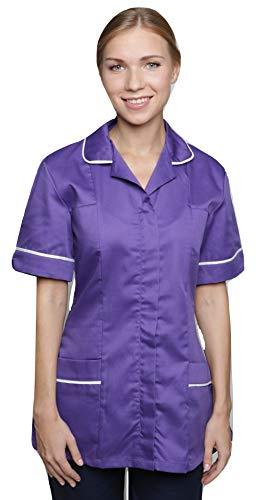 Mirabella Health & Beauty Blouse médicale Nightingale pour Femme Violet-Blanc 36