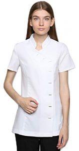 Mirabella Health & Beauty Tunique esthéticienne pour Femme modèle Arete Blanc , taille- 38/10 UK
