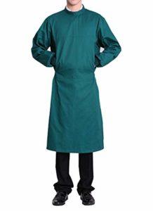 Nanxson Blouse Médicale Unisexe Uniforme de Labo Médecin Opération en Coton ME0002 (S, Vert)
