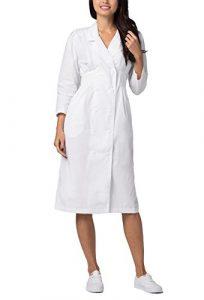 Robe Blouse pour les Femmes – Infirmière et Docteur Uniforme Universel – 2810 Couleur: WHT | Taille: US 26
