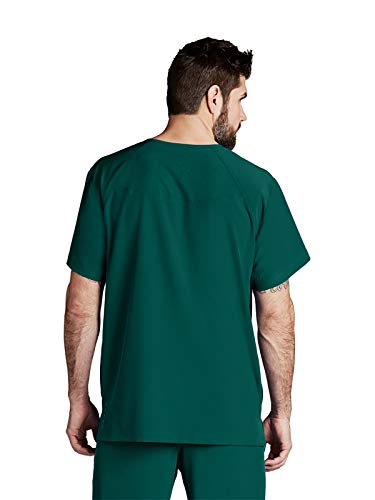 Barco One 5 Poches renforcées col en V pour Homme – 4-Way Stretch Medical Scrub Top – Vert – XX-Large