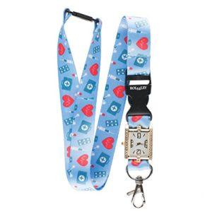 infirmière/médecin/Medic Motif Lanyard avec intégrée montre d'infirmière Superbe Sangle de cou/Lanière montre