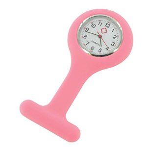 Montre infirmière Hopital idéale pour pulsation et lavage des mains coloris silicon Rose