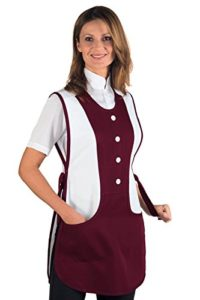 Tablier Médicale Kingston Bordeaux Blanc