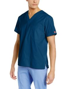 Dickies Medical Scrubs Chemise pour homme – Bleu – X-Small