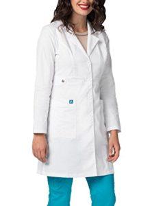 Adar Uniforms Blouse de Laboratoire – Blouse de Laboratoire pour Femmes pour Les Médecins et Les Scientifiques – 3304 Couleur: WHT | Taille: 2X