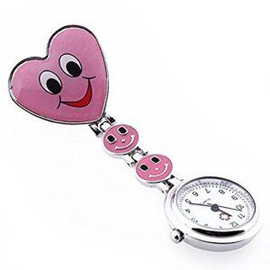 Hrph Mode Quartz Coeur Montre de Poche Infirmières Infirmiers Médicales Nurse Wrist Watch Belle Smiley