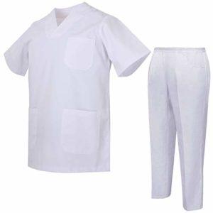 Misemiya – Ensemble Uniformes Unisexe Blouse – Uniforme Médical avec Haut et Pantalon – Ref.8178 – Large, Vert