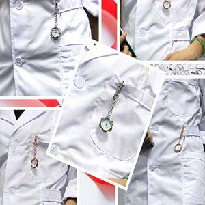 Montre Infirmière Infirmière Clip Suspendu Table en Alliage étudiant Ardillon Montre de Poche (Color : Green, Size : 9.5x3cm)