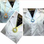 Table d'infirmière Infirmière médicale Montre de Poche Infirmière Montre Silicone Tunique Mouvement Conception Pendentif Broche accrocher Poche Manteau Montre infirmière médecin Table (Couleur: