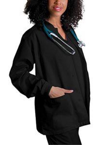 Veste Blouse pour Femmes, Veste de Travail pour Les Infirmières et Les Médecins – 602 Couleur: BLK | Taille: S