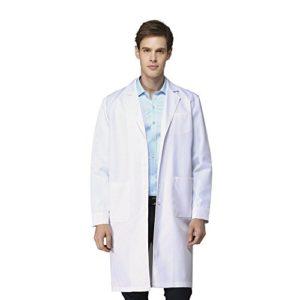 blouse blanche professionnel électrostatiques unisexes, docteur manteau, technicien manteau, Blanc, XS