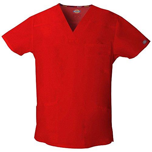 Dickies Chemise d'hôpital pour homme – Rouge – S