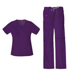 Gen Flex Junior Fit 'Youtility' Top 817455 & Pantalon Cargo Taille Basse 857455 Set de Gommage (Aubergine – Petite/Moyenne Petite)