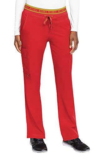 Med Couture Activate Flow Pantalon de yoga 2 poches pour femme – Rouge – Large Petite