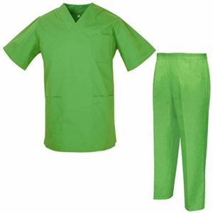 Misemiya – Ensemble Uniformes Unisexe Blouse – Uniforme Médical avec Haut et Pantalon – Ref.8178 – Large, Apple Green