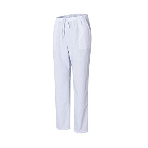 Uniformes 301-501 – Pantalon médical Unisexe avec Casquette et Pantalon – M, Blanc