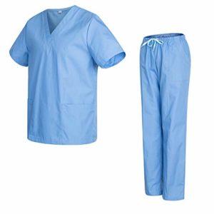 Uniformes 301-501 – Pantalon médical Unisexe avec Casquette et Pantalon – XL, Bleu