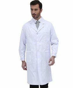 Bqynys Blouse de laboratoire professionnelle Convient pour tous les domaines médicaux, y compris les médecins, les scientifiques et les infirmières, XXL