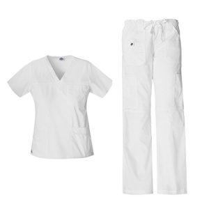 Gen Flex Junior Fit 'Youtility' Top 817455 & Pantalon cargo taille basse 857455 (blanc – petit / moyen)